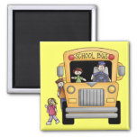 Yellow School Bus Tshirts and Gifts Fridge Magnets