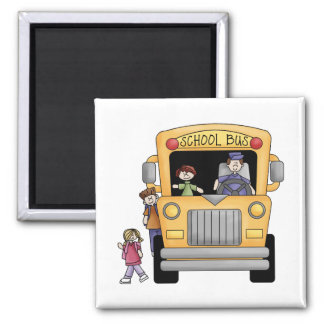 Yellow School Bus Tshirts and Gifts Refrigerator Magnets