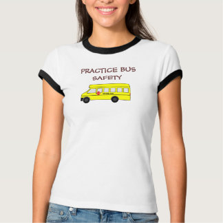 Yellow School Bus with stop sign T-Shirt