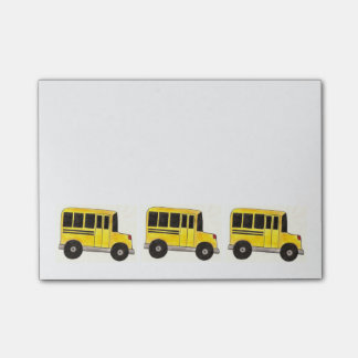 Yellow School Buses Bus Driver Teacher Post-Its Post-it® Notes