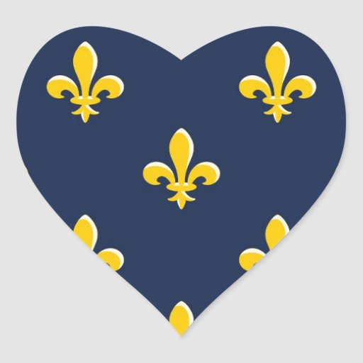 Yellow Scout Emblem Heart Stickers