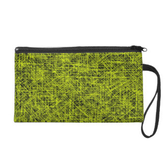 "Yellow ""Scratch"" Wristlet"