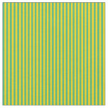 [ Thumbnail: Yellow & Sea Green Lines/Stripes Pattern Fabric ]