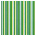 [ Thumbnail: Yellow, Sea Green, Powder Blue & Green Colored Fabric ]
