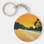 yellow sea.jpg basic round button keychain