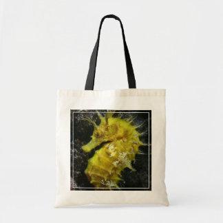 Yellow Seahorse   Hippocampus Guttulatus Tote Bag