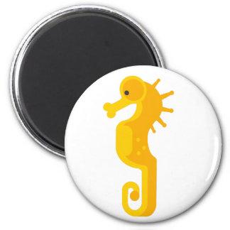 Yellow Seahorse Primitive Magnet