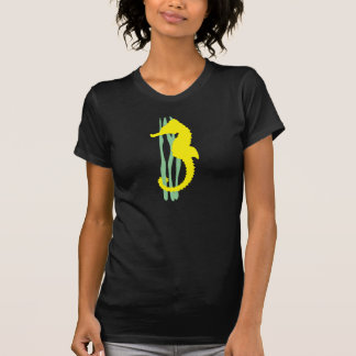 Yellow Seahorse with Sea Grass T Shirts