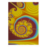 Yellow Seashell Spiral Fractal Large Business Card