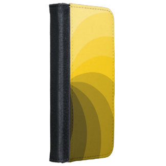 Yellow Segments Design Wallet Phone Case For iPhone 6/6s