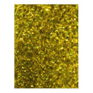 Yellow Sequins Postcard