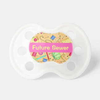 Yellow Sewing Notions Art Future Sewer Pacifier