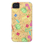 Yellow Sewing Notions Art iPhone 4 Covers