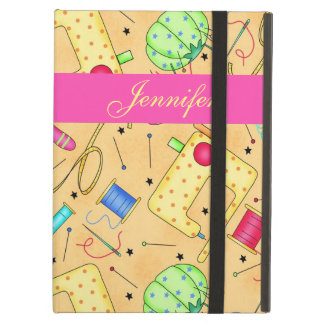 Yellow Sewing Notions Art Name Personalized Case For iPad Air