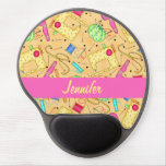 Yellow Sewing Notions Art Name Personalized Gel Mouse Pad