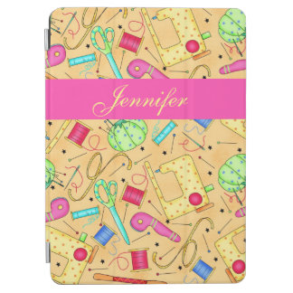 Yellow Sewing Notions Art Name Personalized iPad Air Cover