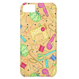 Yellow Sewing Notions iPhone Case