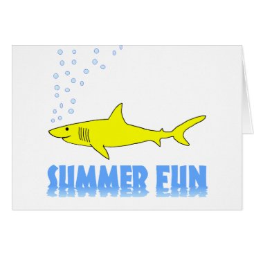 Beach Themed Yellow Shark Card
