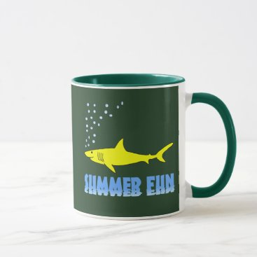 Beach Themed Yellow Shark Mug