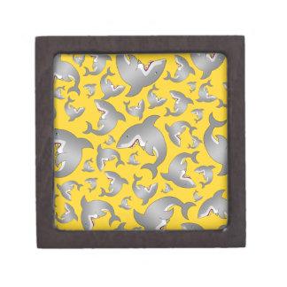 Yellow shark pattern premium trinket boxes