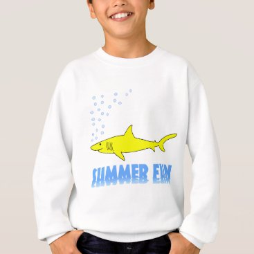 Beach Themed Yellow Shark Sweatshirt