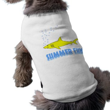 Beach Themed Yellow Shark T-Shirt