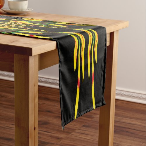 Yellow Sharon Tulip in a House of Mirrors Long Table Runner