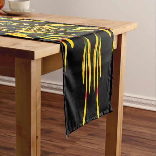 Yellow Sharon Tulip in a House of Mirrors Short Table Runner