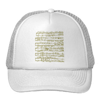 Yellow sheet music (Beethoven piano sonata) Trucker Hat