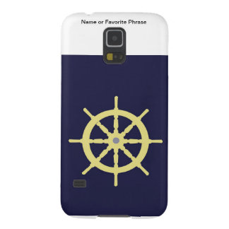 Yellow Ship Helm - Navy Blue Galaxy S5 Case