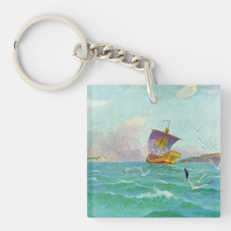 Yellow Ship Keychain