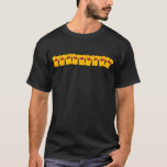 """Yellow shirts Assemble!<br><div class=""""desc"""">Mustard Club shirts are often seennin packs ate the fests around Cincinnati. Show off your club pride in a new way with this T-shirt showing a gang of Mustard Club members hanging out together!</div>"""
