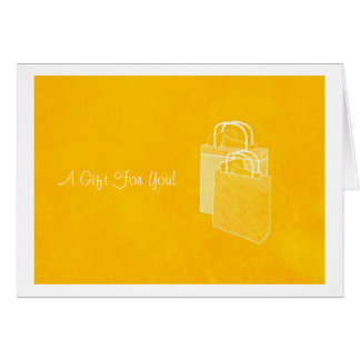 Yellow Shopping Spree Money Enclosed Card