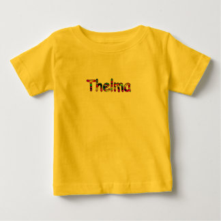 Yellow Short Sleeve T-shirt for Thelma