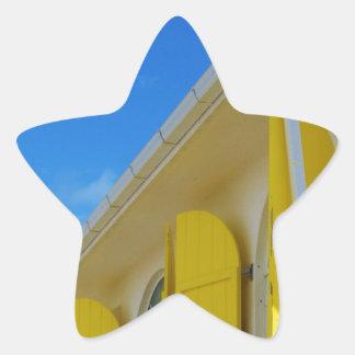 Yellow shutters star sticker