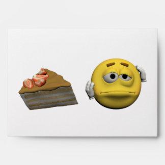 Yellow sick emoticon or smiley envelope