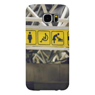 Yellow sign with directions samsung galaxy s6 case