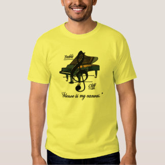 """Yellow """"Silence is my canvas."""" T-Shirt"""