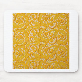 YELLOW SILK CREPE DESIGN MOUSE PADS