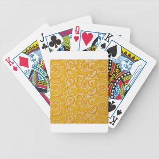 YELLOW SILK CREPE DESIGN POKER CARDS