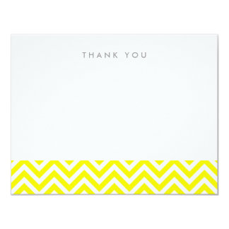 Yellow Simple Chevron Thank You Note Cards