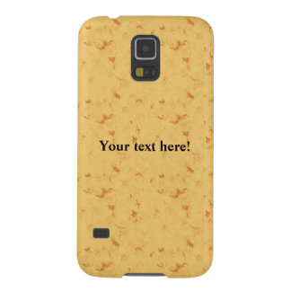 Yellow simple texture case for galaxy s5