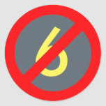 Yellow Six Red Circle Slash Sticker (Ghostbuster)