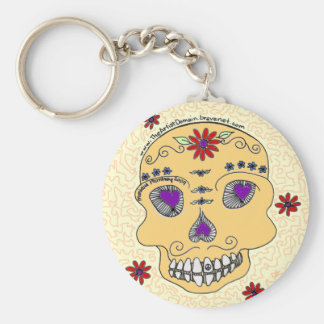 Yellow Skull Key Chain