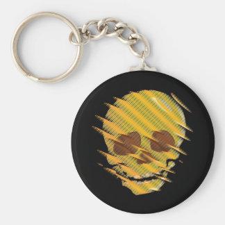 Yellow Skull Keychain
