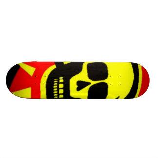 Yellow Skull Skateboard Decks