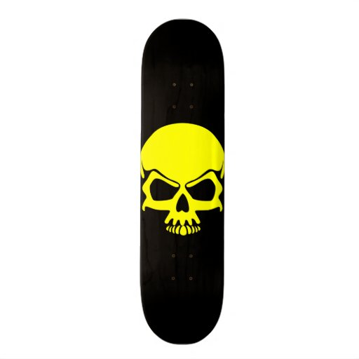 Yellow Skull Skateboard