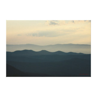 Yellow Sky Little Mountains Canvas Stretched Canvas Print