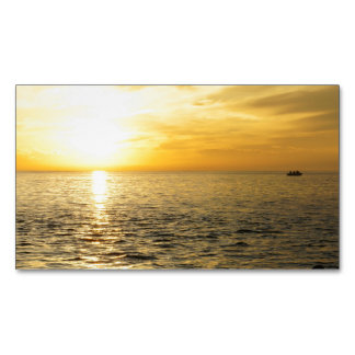 Yellow Sky Magnetic Business Card