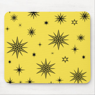 Yellow sky with black stars mouse pad
